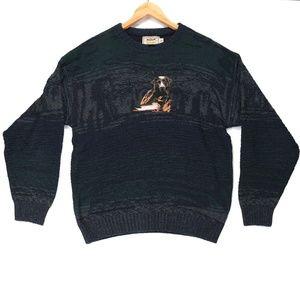Cabela's Men's Blue Knit Duck Lab Dog Sweater